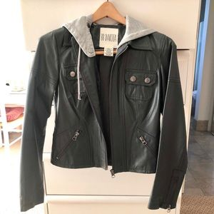 BB Daokta leather jacket with hood